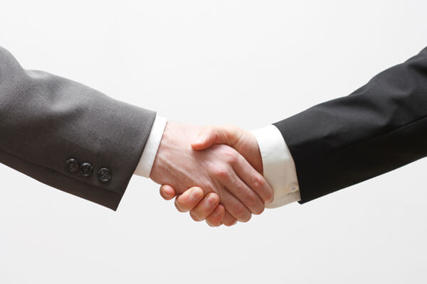Handshake - The first step to a partnership